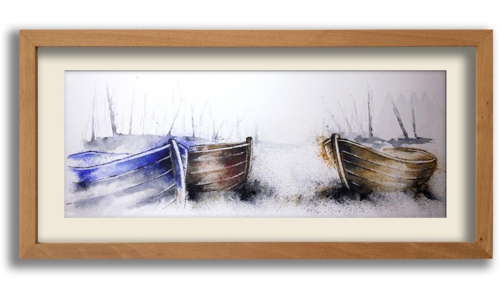 Framed original pen and wash. 53 x 30 cm £125